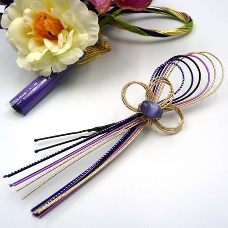 成人式に HANAOTOME 髪飾り2点セット 胡蝶蘭 水引細工