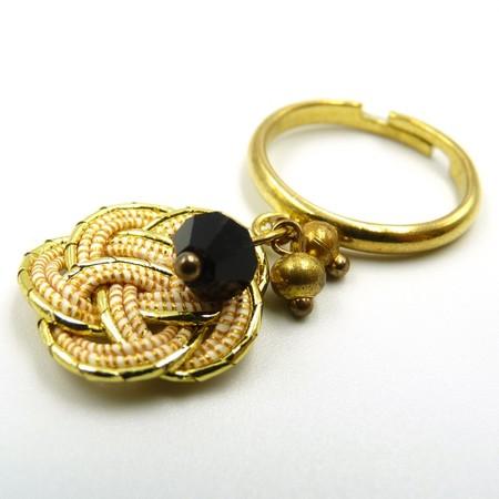 水引細工 揺れるリング 指輪 ゴールド 梅結び