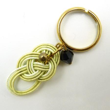 水引細工 揺れるリング 指輪 緑 淡路結び
