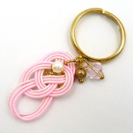 水引細工 揺れるリング 指輪 ピンク 淡路結び