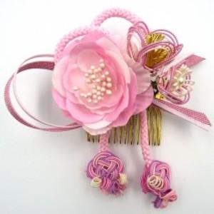 HANAOTOME 髪飾り 水引細工 くみ紐 ピンク